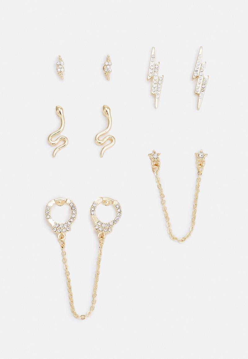 Fire & Glory - FGEDGY EARRINGS 5 PACK - Earrings - gold-coloured/clear