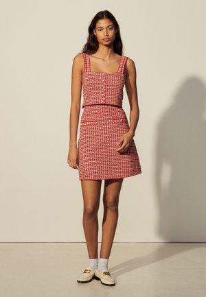 BLANDINE - Mini skirt - rouge