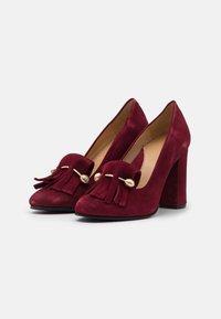 Selected Femme - SFMEL FRINGES - High heels - winetasting - 2