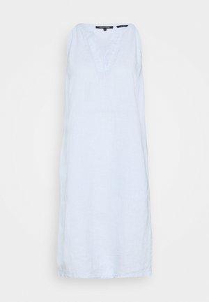 DRESS EASY STRAP STYLE DETAILED NECKLINE SUMMER LINE - Day dress - light blue