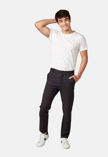 PANTALON LARGO - Pantalones chinos - black