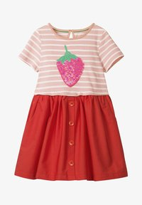 Boden - MIT FARBWECHSELNDEN PAILLETTEN - Day dress - dolphin pink/strawberry - 0