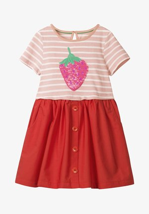 MIT FARBWECHSELNDEN PAILLETTEN - Day dress - dolphin pink/strawberry
