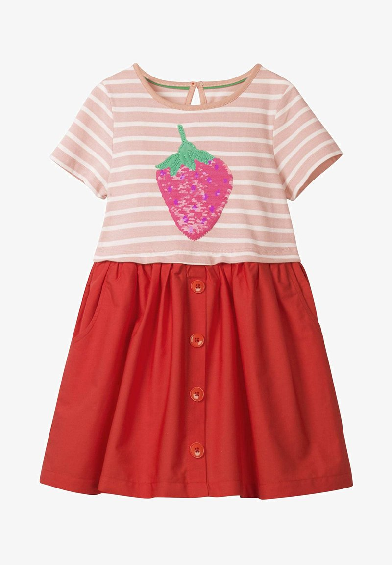 Boden - MIT FARBWECHSELNDEN PAILLETTEN - Day dress - dolphin pink/strawberry