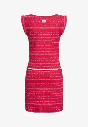 WAVES - Robe en jersey - raspberry20
