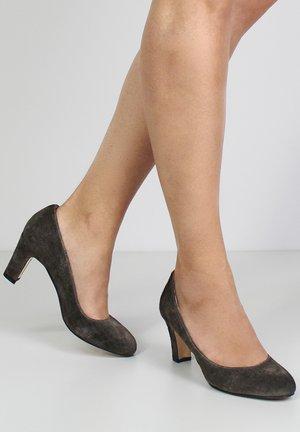 Classic heels - brown/grey