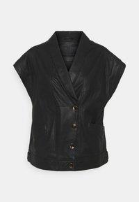 DEPECHE - BLOUSE - Print T-shirt - black - 0