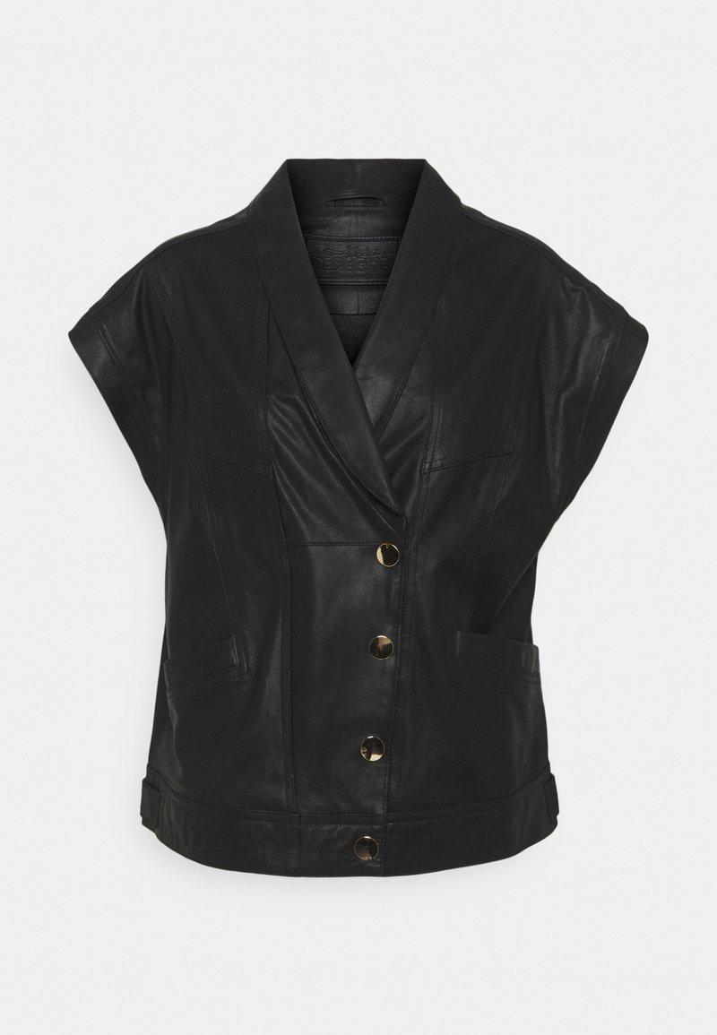 DEPECHE - BLOUSE - Print T-shirt - black