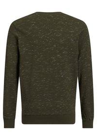 WE Fashion - MET TEKSTOPDRUK - Long sleeved top - dark green - 3