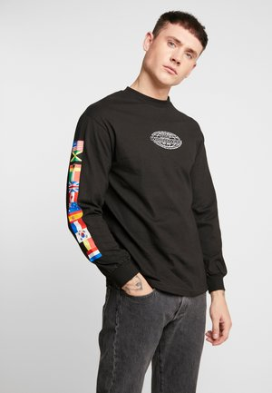 WORLD TOUR TEE - Long sleeved top - black