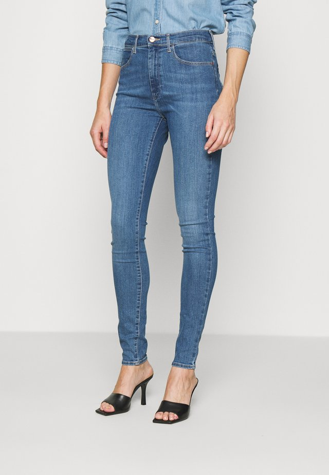 HIGH RISE BODY BESPOKE - Jeansy Skinny Fit - blue