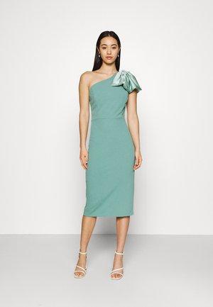KASSIE BOW DETAIL MIDI DRESS - Jersey dress - sage green