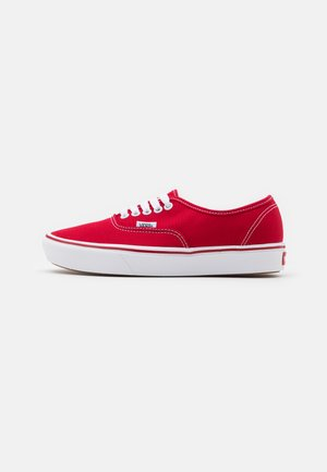 COMFYCUSH AUTHENTIC UNISEX - Sneaker low - racing red/true white