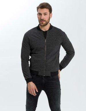 Zip-up sweatshirt - ciemny szary