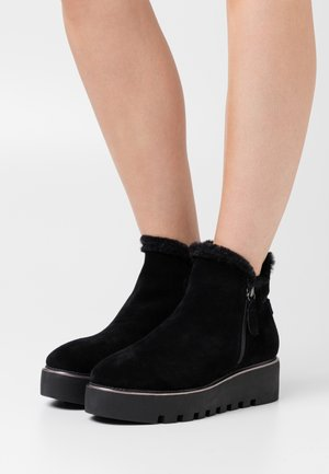 BOOTS  - Wedge Ankle Boots - black