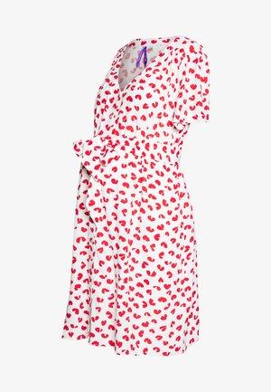 MARGUERITE BUTTON THROUGH DRESS - Sukienka koszulowa - red/white