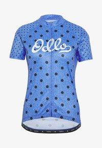 STAND UP COLLAR FULL ZIP ELEMENT - Print T-shirt - amparo blue melange/diving navy