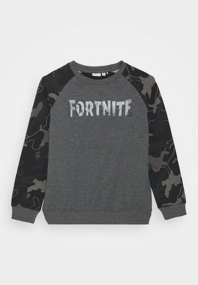 NKMFORTNITE THIAGO - Sweater - dark grey melange
