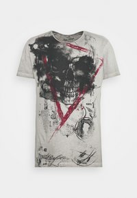 Key Largo - HYPE ROUND - T-shirt con stampa - silver - 5
