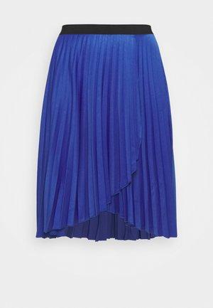 PLEATED WRAP SKIRT - Wrap skirt - blue