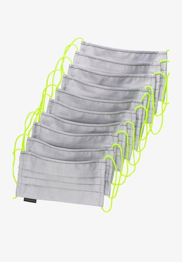10 PACK  - Stoffen mondkapje - grau/gelb