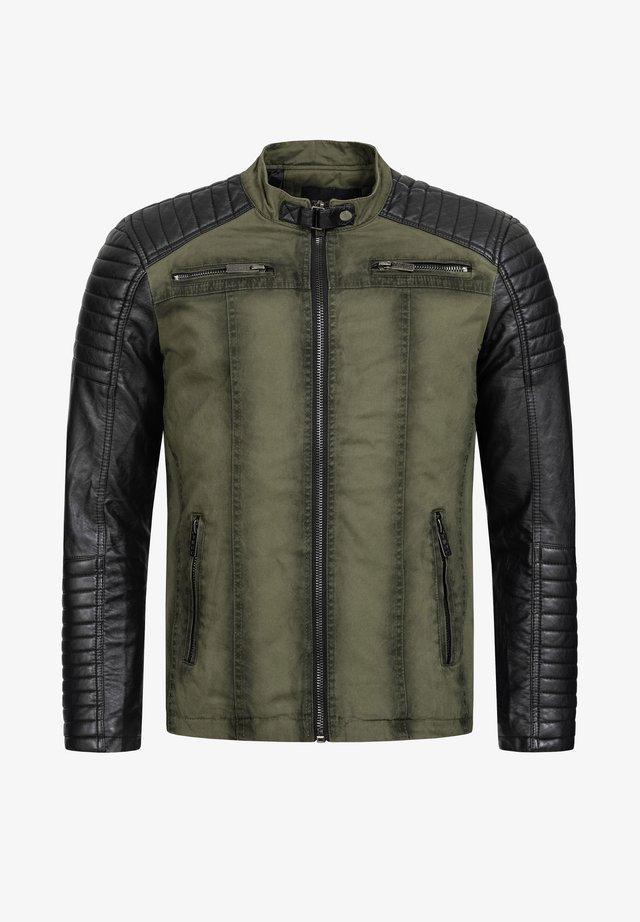 NORTH LAS VEGAS - Faux leather jacket - khaki
