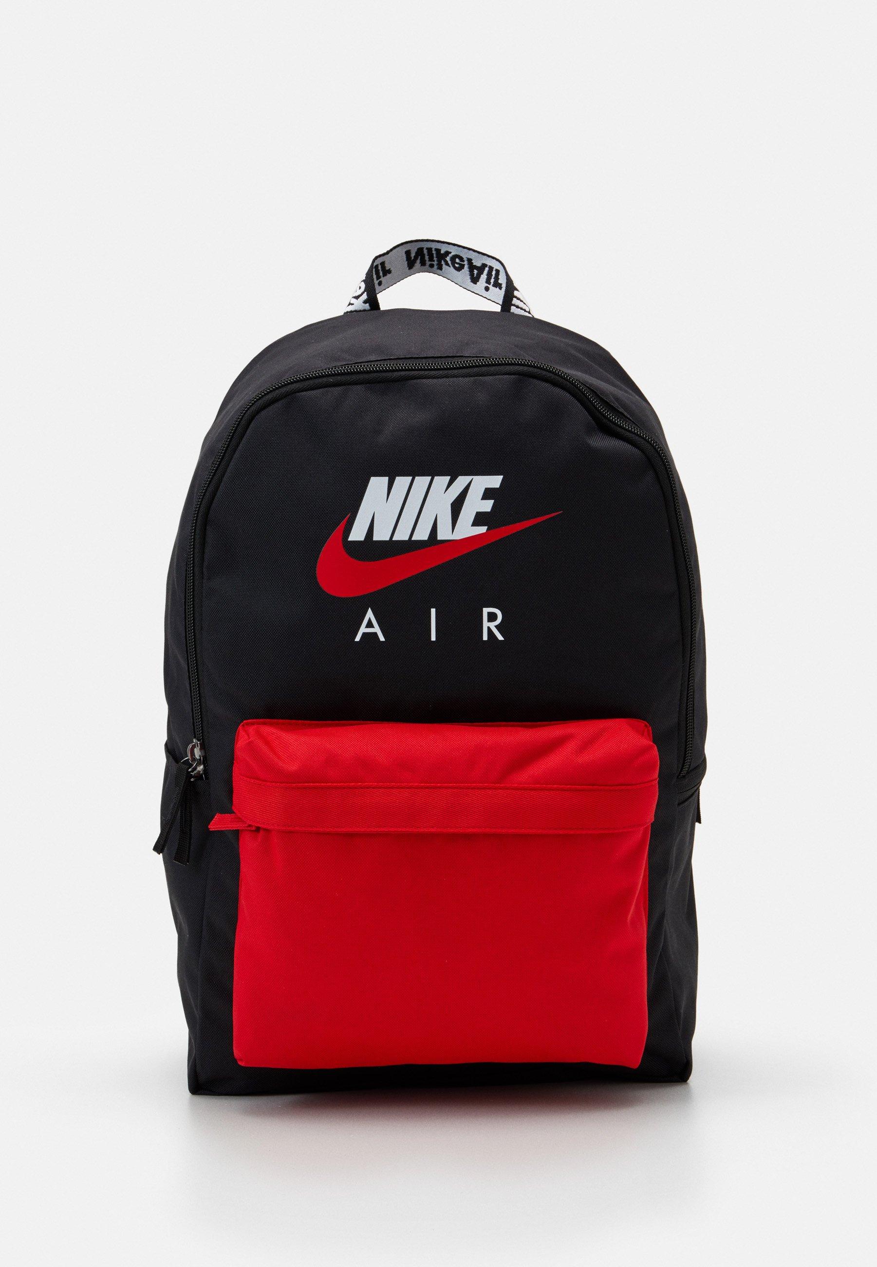 palma Suyo Dramaturgo  Nike Sportswear AIR HERITAGE UNISEX - Rucksack - black/university red/black  - Zalando.co.uk