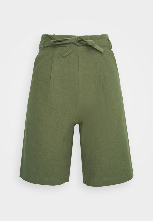HIGH WAISTED - Kraťasy - olive