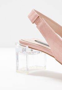 Lost Ink - SLINGBACK HEEL SHOE - Classic heels - nude - 2