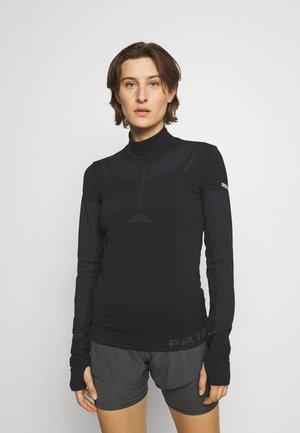 MIDLAYER - Long sleeved top - black melange/grey