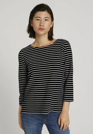 Sweatshirt - navy ottoman stripe