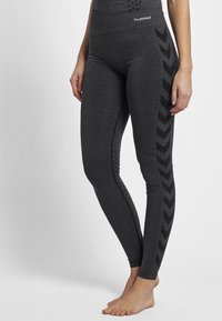 Hummel - CLASSIC BEE CI SEAMLESS - Tights - black melange - 0
