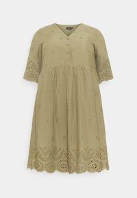 Zizzi - MALVA KNEE DRESS - Day dress - aloe - 0