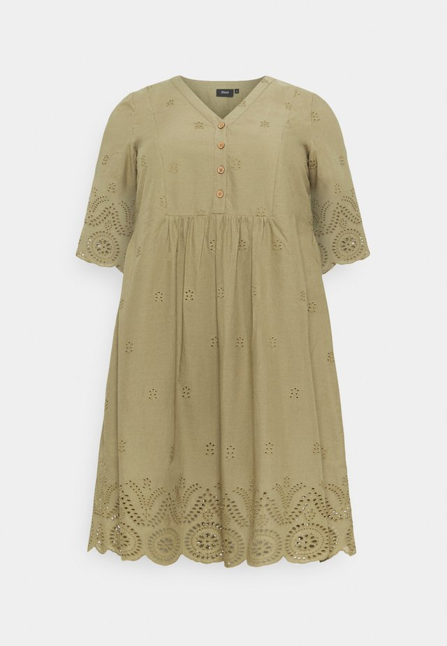 MALVA KNEE DRESS - Korte jurk - aloe