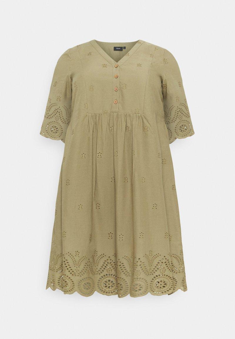 Zizzi - MALVA KNEE DRESS - Day dress - aloe
