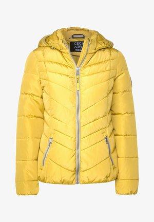 GESTEPPTE - Winter jacket - gelb