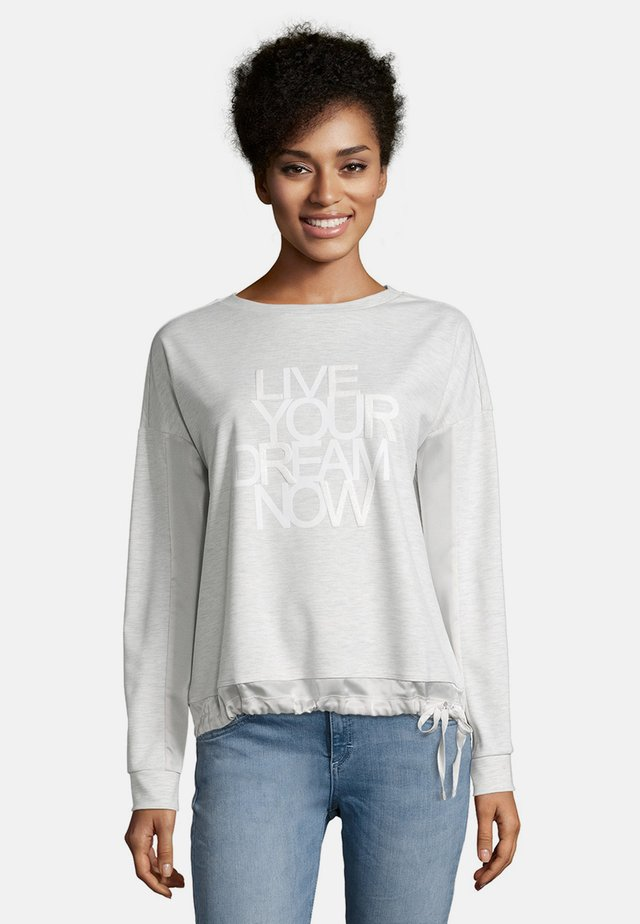 MIT AUFDRUCK - Sweatshirt - light grey