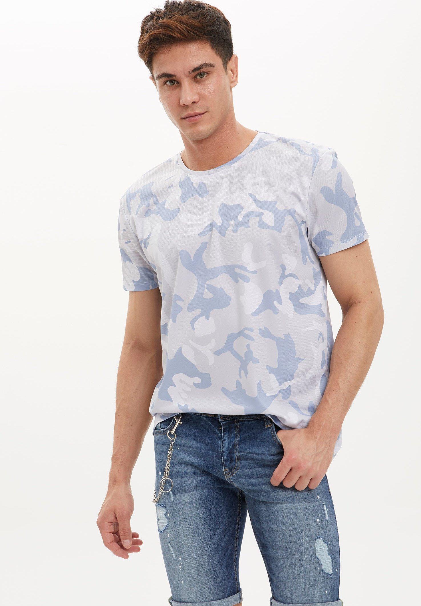 DeFacto Print T-shirt - grey FPT6O