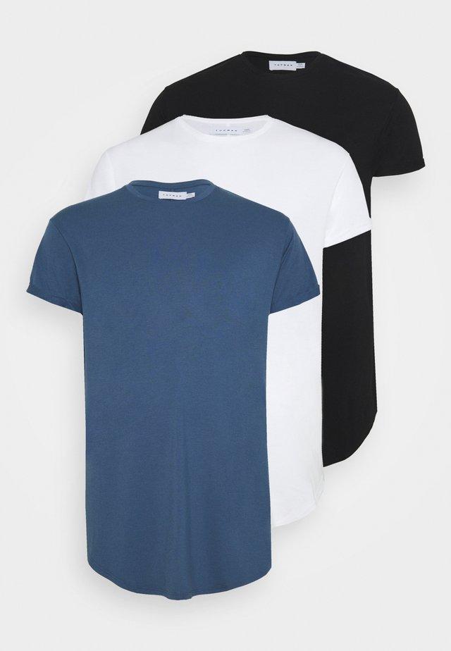 SCOTTY 3PACK - Basic T-shirt - white/black/blue