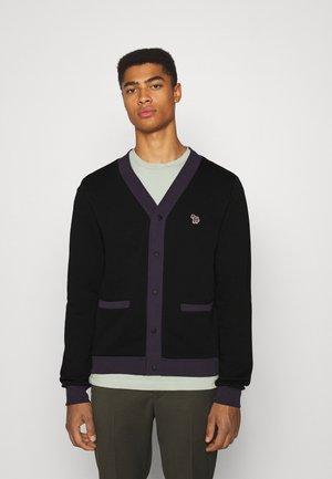 CARDIGAN - Zip-up sweatshirt - black