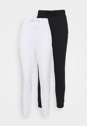 2 PACK - Tracksuit bottoms - white/black