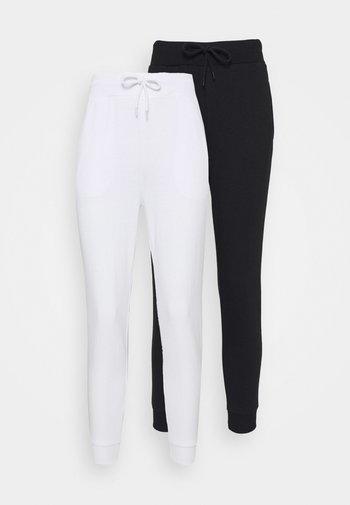 2 PACK - Pantalon de survêtement - white/black