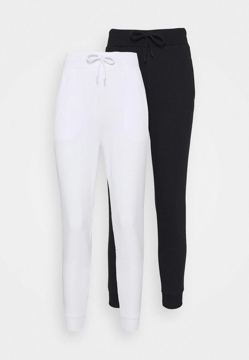 Even&Odd Petite - 2 PACK - Teplákové kalhoty - white/black