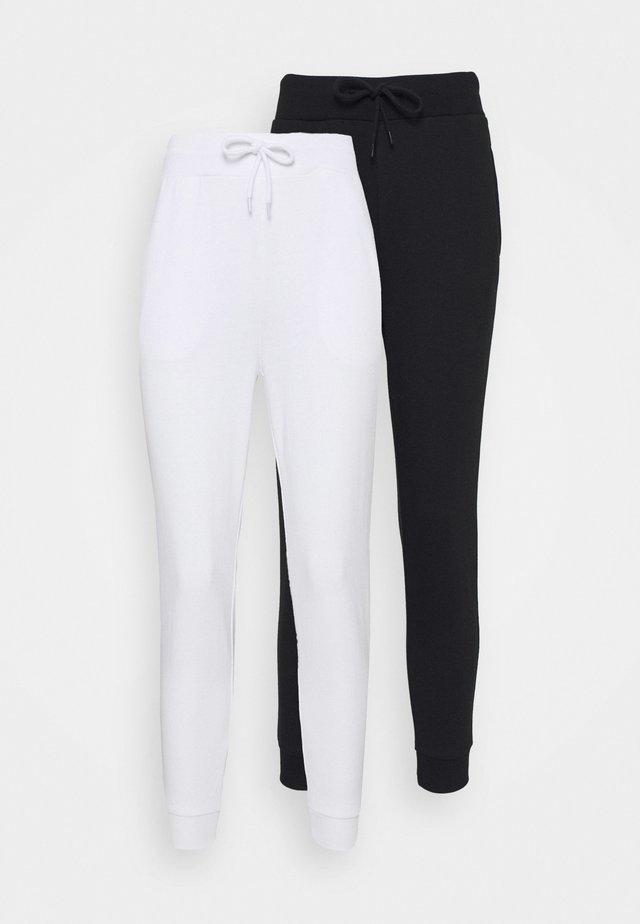 2 PACK - Teplákové kalhoty - white/black