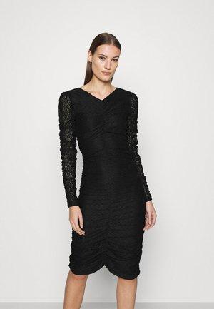 ANTONIA - Jersey dress - black