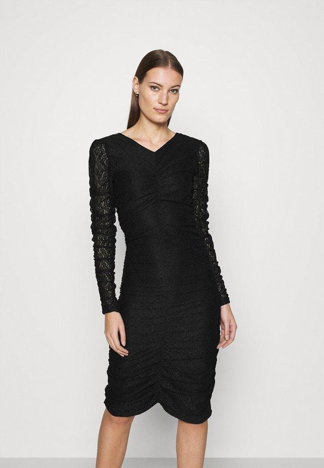 ANTONIA - Žerzejové šaty - black