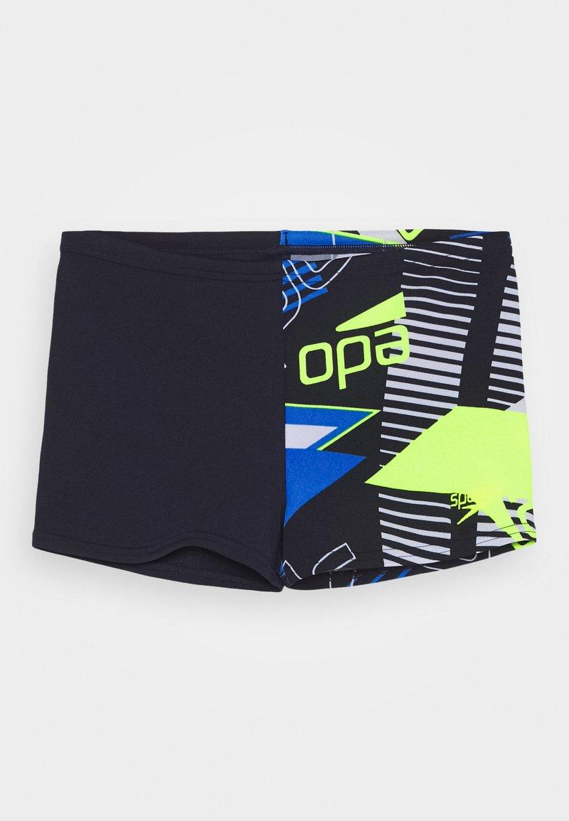 Speedo - ALLOVER AQUASHORT - Swimming trunks - true navy/bondi blue/fluo yellow/white