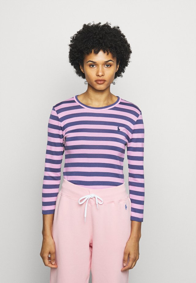 STRIPE LONG SLEEVE - T-shirt à manches longues - hint of pink