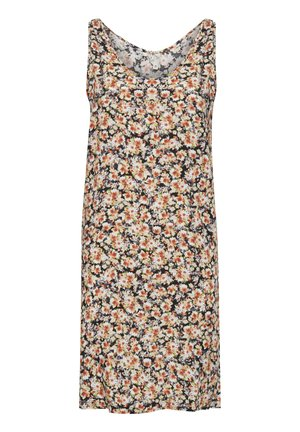 NELLY - Day dress - black/orange flower print