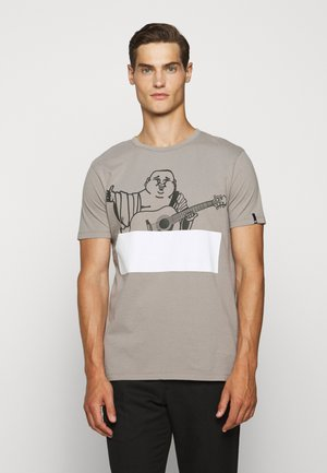 CREW BUDDHA BLOCK - Camiseta estampada - grey